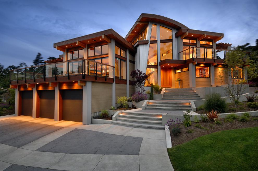 casa cu acoperis curbat