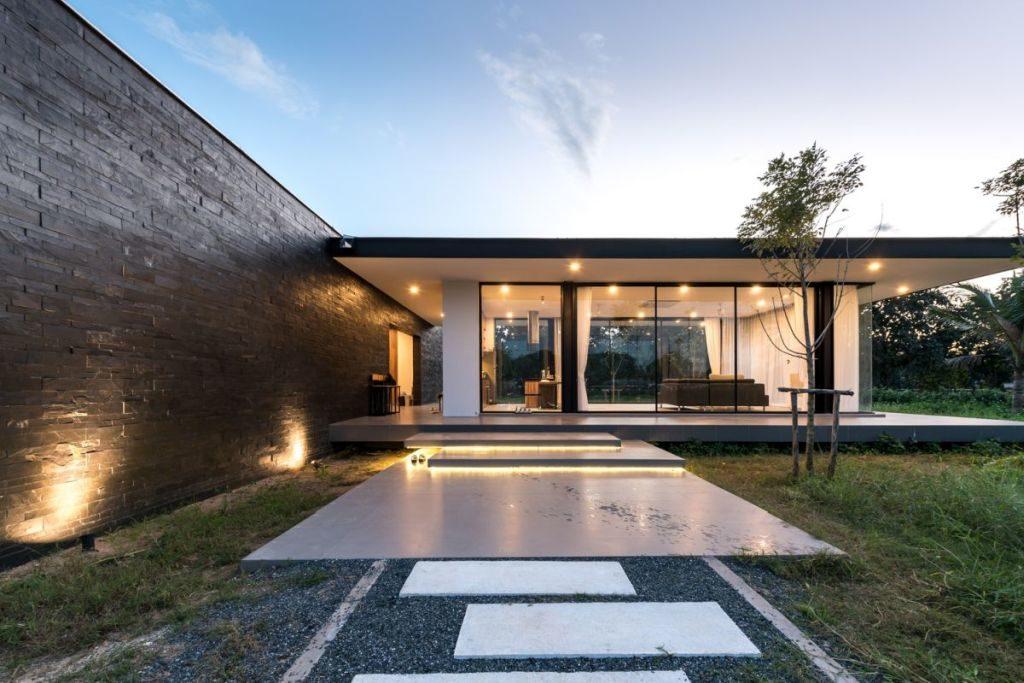 casa cu acoperis plan